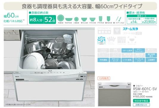 リンナイ製食器洗い乾燥機 商品説明