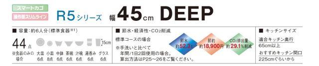 Panasonic ビルトイン食器洗い乾燥機 NP-45RD7S 商品説明